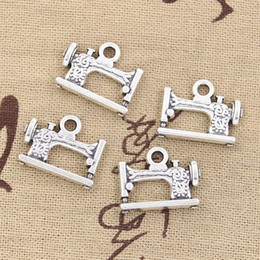 Wholesale Sewing Machine Silver Charms - Wholesale-99Cents 6pcs Charms vintage treadle sewing machine 20*15mm Antique Making pendant fit,Vintage Tibetan Silver, bracelet necklace
