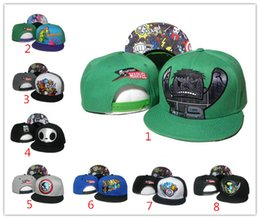 Wholesale Top Hat Green Cheap - 26 colors US fashion Tokidoki Caps TKDK Adjustable Hats Snap Back Hats Cheap Hip Hop Caps Fashion Snapback Hats for Girls and Boys Top Hat