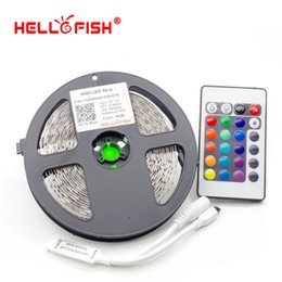 Wholesale Fishing Controller - Wholesale-Hello Fish 5M Double Layer PCB 5050 RGB 300 LED Strip and 24 Key RGB Controller Kit