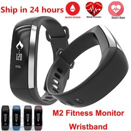 Moniteur de sommeil de podomètre en Ligne-Waterproof M2 Band Blood Pressure Oxygen Monitor Bluetooth 4.0 Wristband Pedometer Fitness Activity Tracker Smart Bracelet pour Android IOS