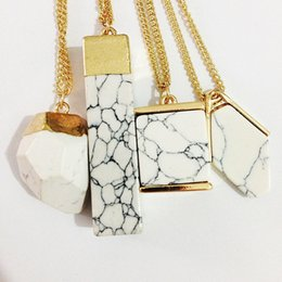 Wholesale Gold Necklace Stand - Speed sell pass hot texture lines standing in the way of copy marble necklace personality fashion pendant