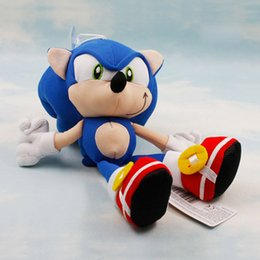 Wholesale Sonic Hedgehog Wholesale - Wholesale-8'' 20cm Sonic the Hedgehog plush toys Sonic speed of sound Dolls kids gift 1pcs Free shipping