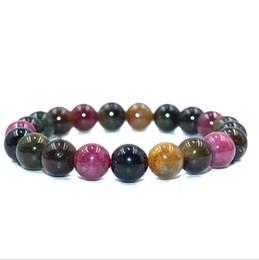 Wholesale Bracelet Tourmaline Beads Natural - Natural Mix Tourmaline Bracelet Natural Stone Bead Quartz Bracelet Fashion Jewelry Wholeslae