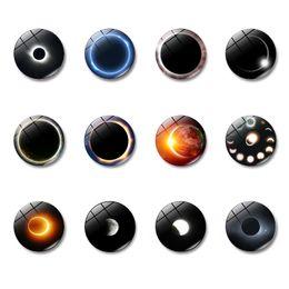 etiquetas do escritório Desconto Gemstone adesivo de geladeira de vidro magnético eclipse Solar padrões de Decoração Para Casa Escritório Novelty decoração ímã peças decorativas DHL