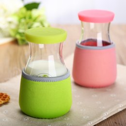 Wholesale Wholesale Scales China - Free shipping scale glass bottle 13oz portable glass water bottle children cute juice glasses jars with lid