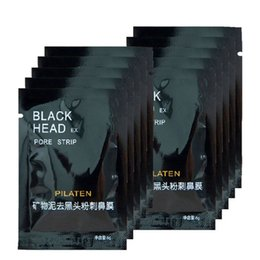 Wholesale Deep Cleaning Nose Blackhead Remover - 100pcs lot PILATEN Black Mask Blackhead Remover Deep Cleansing Purifying Peel-off Mask Pore Cleanser Facial Mask Free Shipping