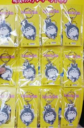 Wholesale Keychains Children Wholesale - New 12 pcs Cartoon My Neighbor Totoro PVC Keychain Bag Pendant Children Gifts Y018