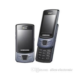 Wholesale Cheap Single Sim - Cheap Original phone Samsung C6112 FM Camera Bluetooth dual sim cards Cell phone Refurbished cellphone