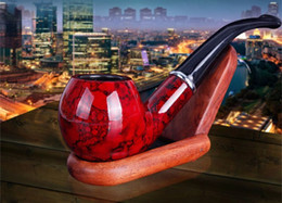 Wholesale Best Gift Smoking - Hot Selling the Resin Pipe Smoking Holder Tobacco Pipe for Smoking Pipe best gift to Father and Grandfather