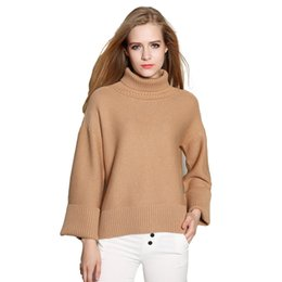 Wholesale Turtleneck Tops For Women - Wholesale-High Quality Cashmere Sweater Women Winter Pullovers turtleneck Solid Knitted Sweater Tops for Women Oversized Female Sweaters