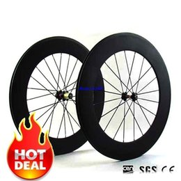 Wholesale Chinese Roads - 2017 new 700C 23mm wide Road Bike full Carbon 88mm Tubular Wheelset V Brake system chinese carbon wheels Novatec 271 372 Hubs