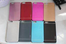 Wholesale Aluminum Case Stylus - Luxury Metal Motomo Aluminum Brushed Phone case for LG G2 G3 G4 G5 G3mini G4mini G3 Stylus G4 Stylus G4 Beat G4C With LOGO Free