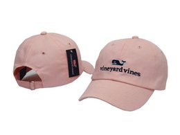 Wholesale Plain Snap Back Caps - vineyard vines Casual Men Women Curved Snapback Baseball Cap Hunting Caps Snap back Plain Golf hats Casquette Solid Peaked Caps