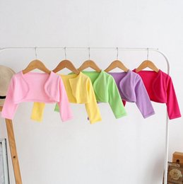 Wholesale Girls Jackets Coats Summer - spring 2017 toddler clothes baby candy colored jacket coat kids jackets baby girls tops infant long sleeve cotton waistcoats children coats