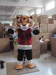 Wholesale Tiger Mascot Costume Sale - Factory direct sale Lovely Kung Fu tiger cartoon doll Mascot Costume Free shipping