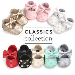 Wholesale Walkers For Babies - Wholesale- Baby Moccasins Baby First Walkers Soft Bottom Butterfly-knot Baby Shoes Prewalkers Boots for 0-18M Babies