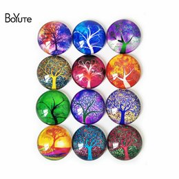Wholesale Diy Handmade Accessories - BoYuTe 10 Sizes Mix Round Cabochon Diy Accessories Parts Handmade Image Glass Cabochon Tree of Life