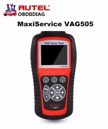 Wholesale Obd2 Vag Code Reader - Autel MaxiService VAG505 Handheld Device VAG 505 Code Reads and erases Diagnostic Trouble Codes OBD2 Diagnostic Tool