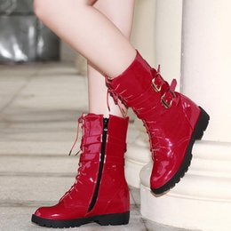 Wholesale White Round Toe Short Heels - Women Warm Martin Boots Simple Elegant Women Shoes Zipper Low Heel Short Plush Buckle Mid Calf Round Toe Half Boots Size 34-39