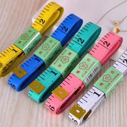 Wholesale machine materials - 150CM 2017 PVC Material Sewing Machine Body Measuring Tape Cloth Sewing Ruler And Tailor Of Tape Measure 60 Inch Body Tape 500pcs