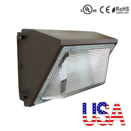 Wholesale Stock In US Outdoor Wall led lighting W led retrofit kits wall pack lamp fixtures led shoebox light ac v years warranty