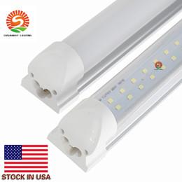 plafonniers led t8 Promotion Intégré T8 Led Tube Lumière Double plafonniers 4ft 8ft plafonnier Led shop lumières Tubes AC 85-265V Avec Tous les accessoires + Stock Aux États-Unis