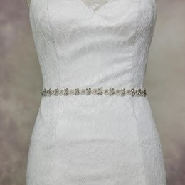 Wholesale Wedding Bride Dress Price - S101 Wholesale Price Rhinestones Accessories Women Fashion Designers Long Belts 10 Colors Satin Handmade Bride Wedding Dress Belt Sashes