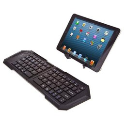 Wholesale Bluetooth Folding Keyboard For Tablet - Folding Bluetooth 3.0 Keyboard Wireless Foldable Pocket Wireless Keypad Travel Keyboards for iphone ipad tablet PC