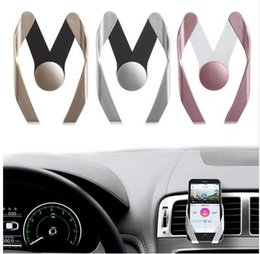 Wholesale Hot Air Holder - Hot Selling Universal M Mobile Car Phone Holder Air Vent Mount Mobile Phone Stand Holder for iPhone Samsung Sony With the Retail Box