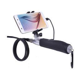 Endoscópio portátil on-line-Handheld 8mm Tubo Duro Endoscópio Android Lente 6 LED À Prova D 'Água Endoscópio Fio Endoscópio Câmera Inspeção Endoscópio Cabo Duro