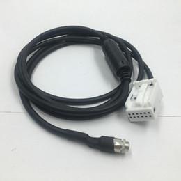 Wholesale e64 e63 bmw - Car AUX Auxiliary Audio Input Adapter Cable 12pins For iPhone iPod BMW E60 E61 E63 E64 E65 E90