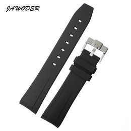 Wholesale Sports Needle - JAWODER Watchband 20mm Black Waterproof Diving Silicone Rubber Watch Band Strap with Buckle for Submariner Date 116610LV GMT Explore