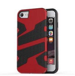 Wholesale Wholesale Camo Mesh - 2 in 1 Hybrid Armor TPU PC Hard Case For Iphone 7 Iphone7 I7 SE 5 5C 5S 6S 6 PLUS Fashion Camo Slim Wave Mesh ShockProof Skin Cover 10pcs