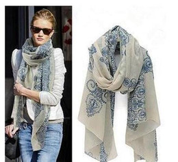 Wholesale Price Chiffon Silk Scarfs - 2017 cheap scarves High quality Blue and White Porcelain Style Thin Section the Silk Floss Women Scarf Shawl New Fashion Discount Price