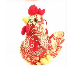 Wholesale Cock Big - 1PIECE 20cm smoke pattern plush toy chicken year mascot big cock New Year gift