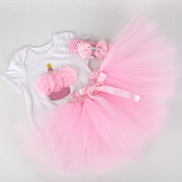 Wholesale Tutu Dresses For Boy - Wholesale- 2016 Newborn Tutu dress Skirt Headband Set,Cake Infant Dress Suit Props for Birthday,Princess Ruffle Baby Girl Vestido #7C3017