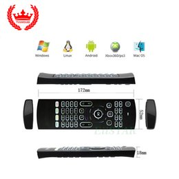 Wholesale 3d Keyboard Controller - MX3 backlit keyboard 2.4GHz wireless android tv boxes remote Game Controller 3d somatosensory IR learning 6 axis fly air mouse