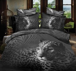 Wholesale Bedding Wolf Comforter - Wholesale-3D bedding sets animal 3d wolf sheet set bed set bedclothes blanket cover comforter cover+flat sheet+2pillowcase 4pc duvet cover