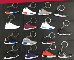 Wholesale Cartoon Sneakers - Mix Cute Silicone 350 Boost NMD Runner PK Key Chain Sneaker sply-350 Keychain Kids Key Rings Key Holder for Woman and Girl Gifts