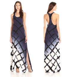 Wholesale Marketing Solids - guangzhou garment market hot new fashion collection tank collar sleeveless ombre maxi pencil long split gown dresses for women