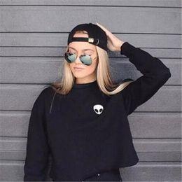 Wholesale Ladies Velvet Short Jackets - Wholesale-High Quality Autumn Women Lady Cotton Hooded Jacket Thicken Velvet Long sleeve Sweatshirt Hoodies Pullovers t shirt kz564