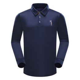 Wholesale Polo Sports Wear - 2017 New POLO men golf Golf Wear Spring autumn long sleeve Breathable soft and comfortable golf sport T-Shirts clothes for men