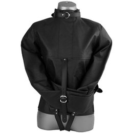 Wholesale Adults Jackets - Superior Fetish bdsm Bondage Restraints PU Leather Strait Jacket, Adult Erotic Toys Women Bondage Harness Sex Toys for Couples