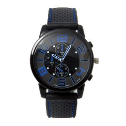 Wholesale Wristwatch Cars - 500pcs Fashion Men's Sport Silicone Wristwatches AAA Quality Black Sport Car Analog Quartz Watches 2017 Hot Sell