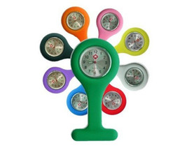 Wholesale hanging pocket watch - 50pcs lot silicone nurse watch Many Colors for your choice for pocket watch hang nurse watch DHL free shipping Utop2012