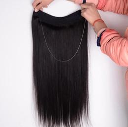 Wholesale Micro Hair Extensions 1b - Micro Loop Hair Weave Bundles 1PCS Flip Easy Fish Line #1B #2 #4#6#8100g 100% Real Hair Hair Extensions