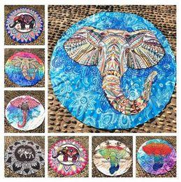 Wholesale Wholesale Yoga Cloths - Elephant Beach Towel Polyester Mandala Blankets Elephant Yoga Mat Table Cloth Towel Shawls 14 Styles OOA1462
