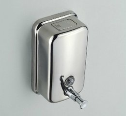 Wholesale Wall Mounted Hand Soap Dispensers - 304 stainless steel manual soap dispenser wall mounted metal soap box hand press soap holder