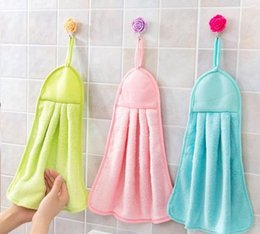 Wholesale Dishcloths Kitchen Towels - Cute Bathroom Towels Hung Clean Kitchen Towel Absorbent Dishcloth Hanging New