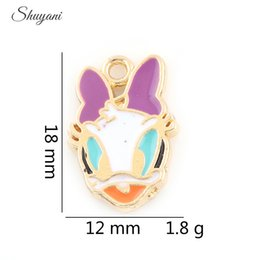 Wholesale Donald Duck Charms - New Arrival Donald Duck Charms Pendant for DIY Necklaces Charms Bracelet Floating Charm Silver Gold Plated